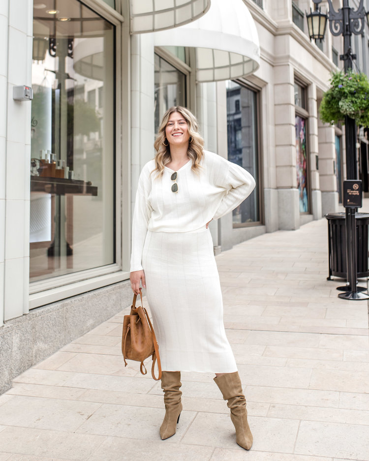 96d1018845b Trend to Try  Two-Piece Sweater Skirt Sets — RAEANN LANGAS