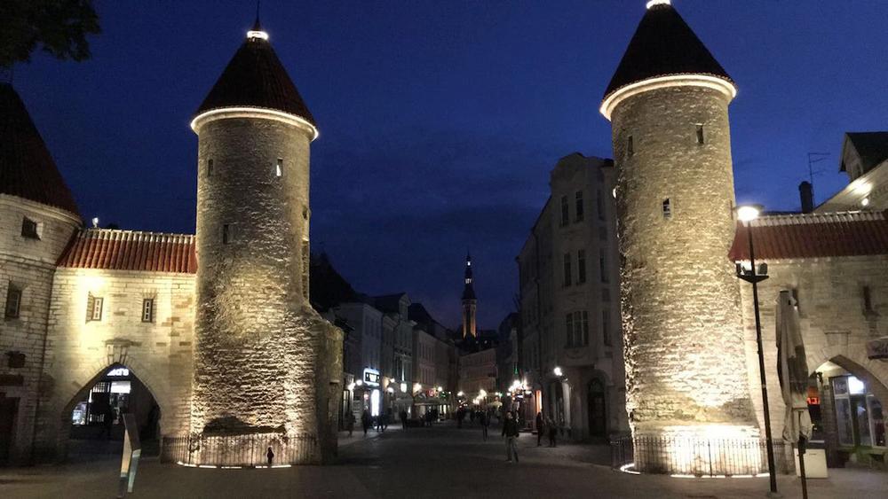 Tallinn is beautiful at midnight.
