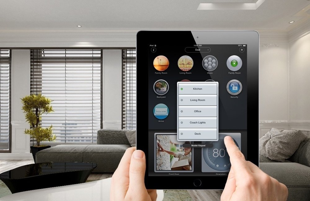 Smart Home technology allows a combination of controlled events to activate with the touch of a button. Adjust your thermostat, turn on or off the lights and music, set your security system and locks for 'Home', 'Away', 'Entertaining' or 'Good Night' scenes. -