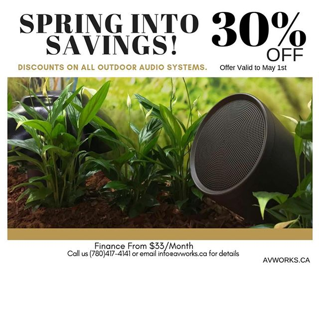 Spring into savings!!! #springtime #homeautomation #landscapedesign #avworksyeg #yegsmallbusiness