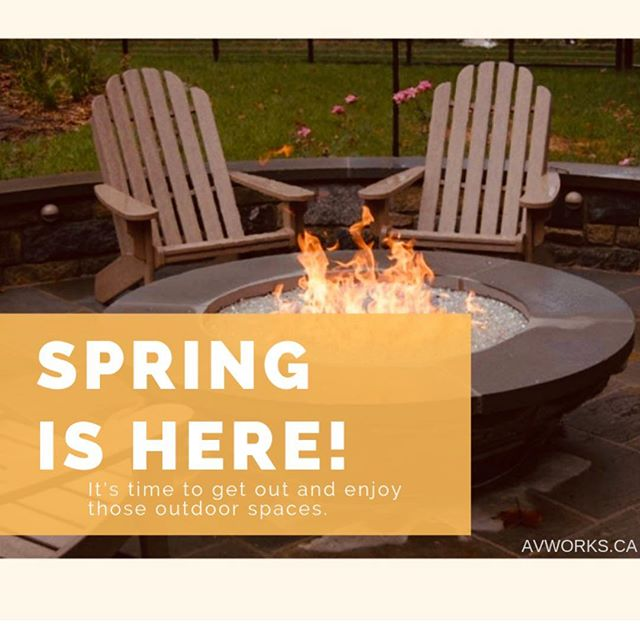 Spring is here! Get out there and enjoy those outside spaces!  Don't forget we've got our landscape speaker sale on right now through to May 1st! #avworksyeg #homeautomation #landscapespeakers #thegreatputdoors #springintosavings #smarthome #yegsmallbusiness