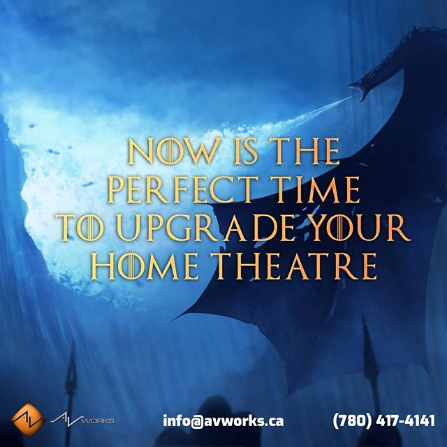 "The ""small screen"" is now telling bigger stories than ever before. Nowhere is this more true than on HBO's smash hit Game of Thrones. Experience this epic story with your new home theatre by AV Works. (Dragon not included) ˙ #got #gameofthrones #hometheatre #yeg #edmonton #sherwoodpark #stalbert"
