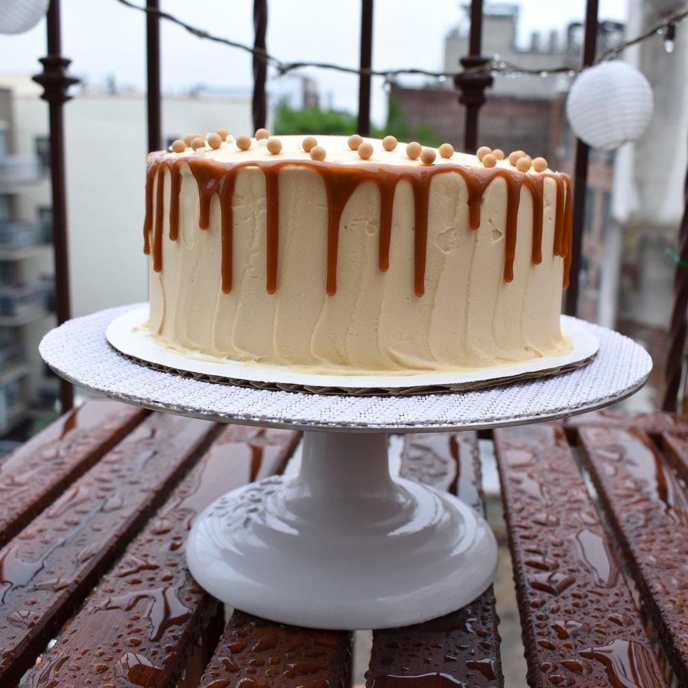 the Caramel Brownie Batter Cake