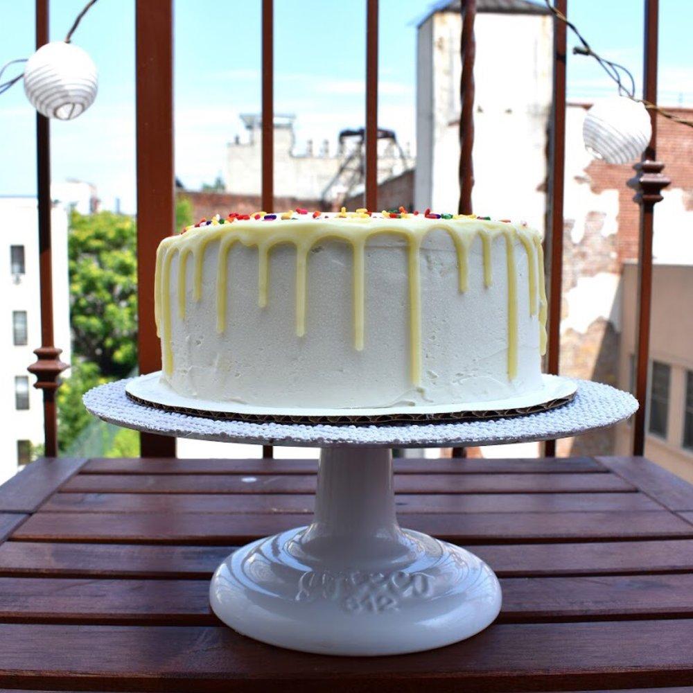 the White Chocolate Funfetti Cake