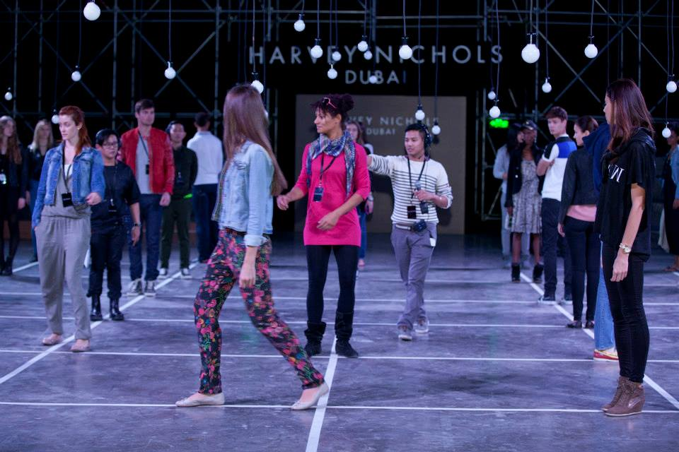 Fashion Choreography - Instructing the models on how to walk and where to walk in the runway