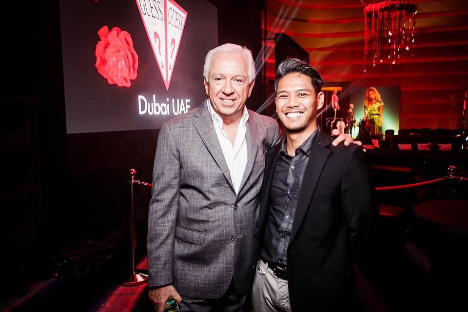 Errol with Paul Marciano (Guess Founder and CEO)