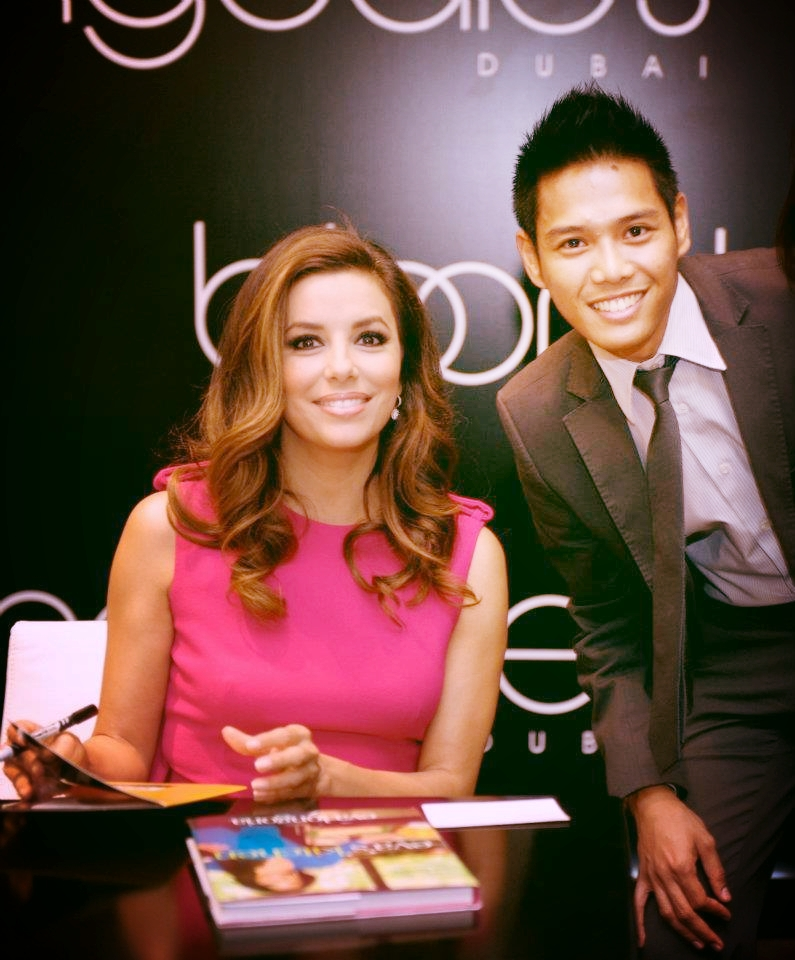 Errol with Eva Longoria