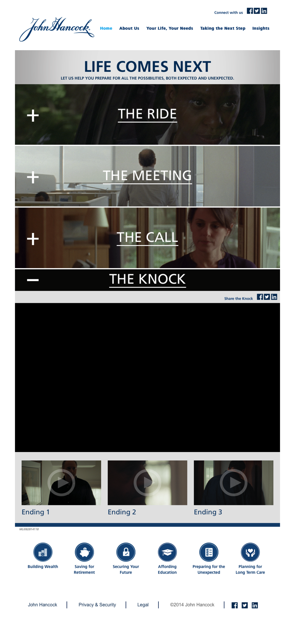"Here are the 3 endings to ""The Knock."""