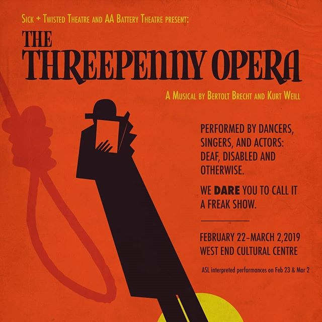 We are totally pumped to be working with @sickandtwistedtheatre on their upcoming production of #threepennyopera by #bertoltbrecht and #kurtweill 💣💥 Poster by local desiger @rachelblunden