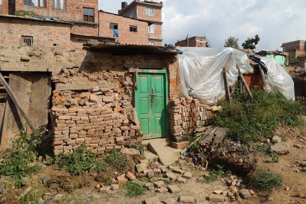 Destroyed home in Harisiddhi, September 2015.