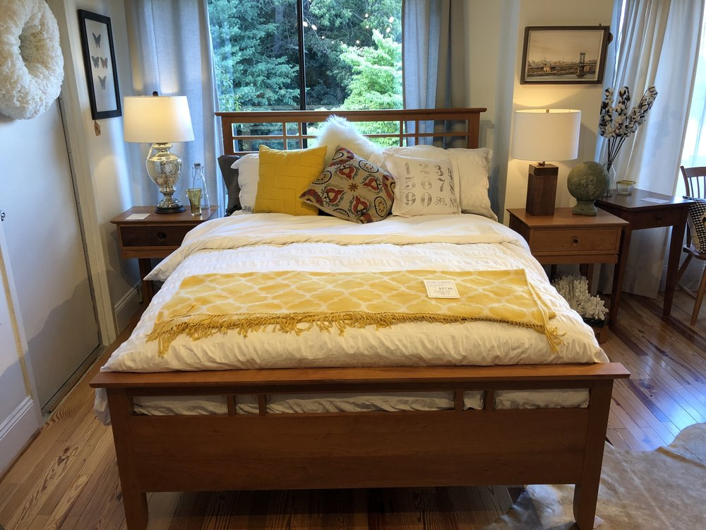This is similar to the bed we picked out, just a little darker cherry wood