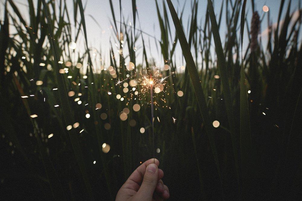 Sparkler, Field, Grass - Image.jpg