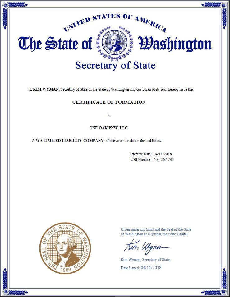 Certificado de Formacion