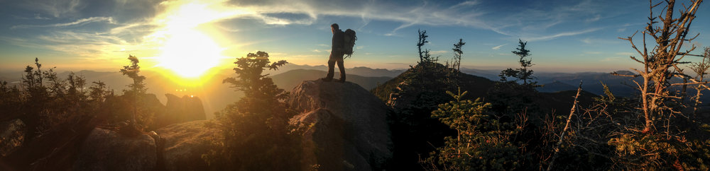 Sunset in the Adirondack Mountains, New York.  Photo by Zack Wintrob, using his cell phone.