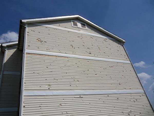 hail damage to residential home