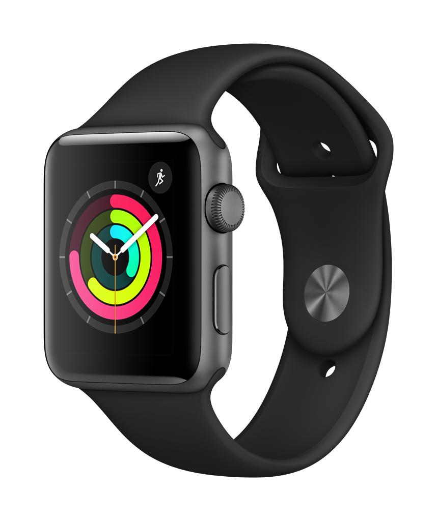 A powerful new take on the original.  Track and share your activity. Measure your workouts. Monitor your health. And stay connected to the people and information you care about most. Now you can do it all even faster than before, thanks to a new dual-core processor. .        Monitor your health.  Since Apple Watch Series 1 is always with you, it can help you be more aware of your overall health. It lets you easily monitor your heart rate, better manage everyday stress, and add apps relevant to your specific routines. So you get a more complete picture of you.  Apple Watch Series 1 Tech Specs  CASE  38mm or 42mm Aluminum (Silver, Gold, Rose Gold, or Space Gray)  CHIP  S1P dual-core processor  SCREEN  Ion-X Glass OLED Retina display with Force Touch (450 nits)     WATER RESISTANT  Splash resistant rating of IPX7 under IEC standard 60529. Apple Watch Series 1 is splash and water resistant, but submerging Apple Watch Series 1 is not recommended.  SENSORS  Heart rate sensor, accelerometer, and gyroscope.  BATTERY LIFE  Up to 18 hours of battery life.