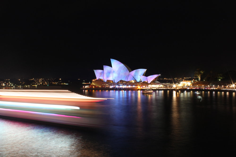 Sydney Opera House Night Lights