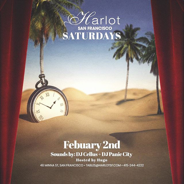 It's time!!! 👊🏽 ⏰ Catch me at the new @harlotsf this Saturday 🔥🔥