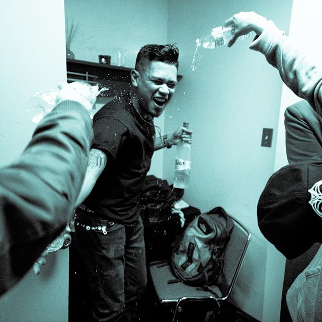 Throwback of me and my friends celebrating in my green room at the Bill Graham. Thank you for capturing this @daveram_ these photos mean a lot to me 🥰