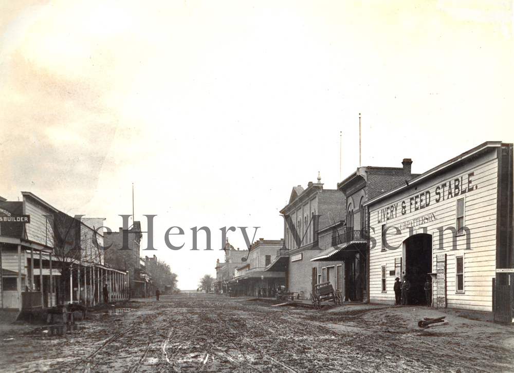 "10th Street at the corner of ""I"", circa 1890"