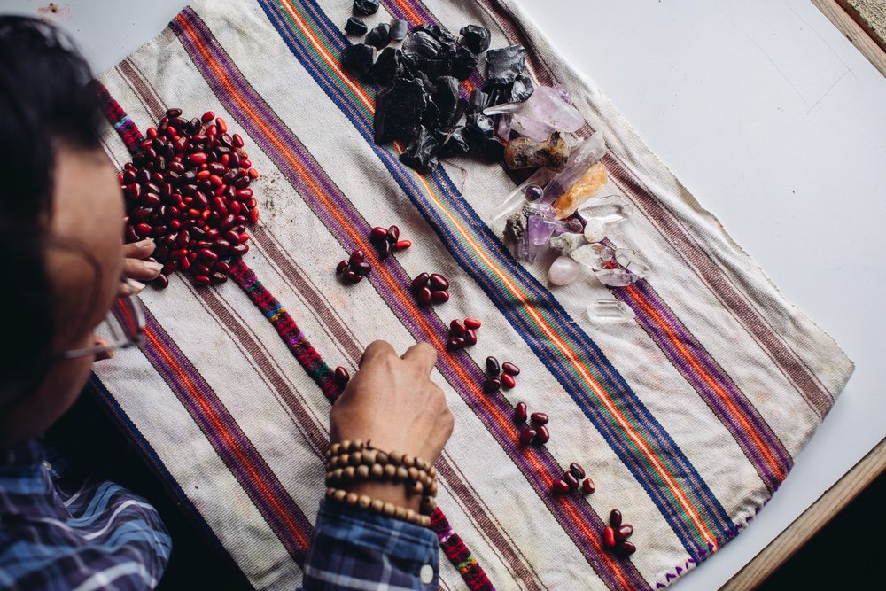 Tz'ite Bean Divination - The Tz'ite Beans are sacred red beans use by the Ajq'ijab. An ancient form of divination, dated back to the ancient text the Popul Vuj. Communicate with all creation energies. They can answer doubts, give one clarity, speak truths, or give one direction.
