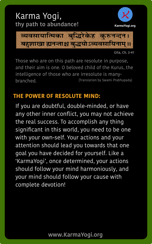 The power of resolute mind
