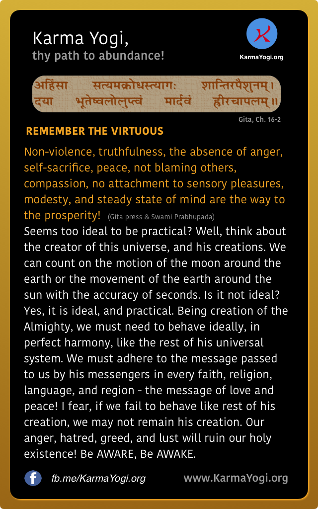 REMEMBER THE VIRTUOUS
