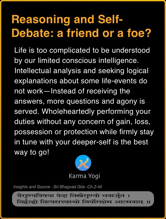 Reasoning and Self-Debate: a Friend or a Foe?