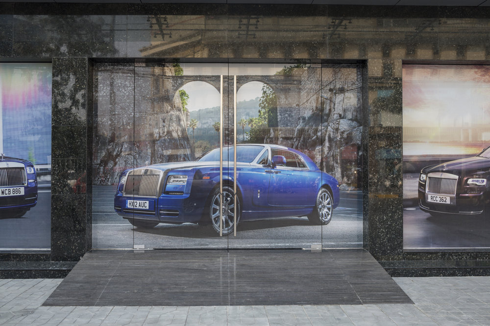 March 19, 2015 - Phnom Penh, Cambodia. The first offical RollsRoyce showroom opens in Phnom Penh. © Nicolas Axelrod / Ruom