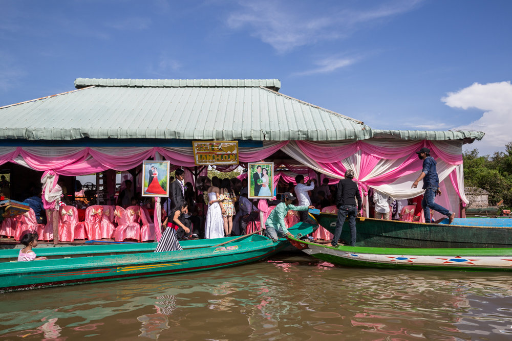 Nov. 20, 2016 - Chong Kneas, Cambodia. A wedding in a floating community hall. © Nicolas Axelrod / Ruom