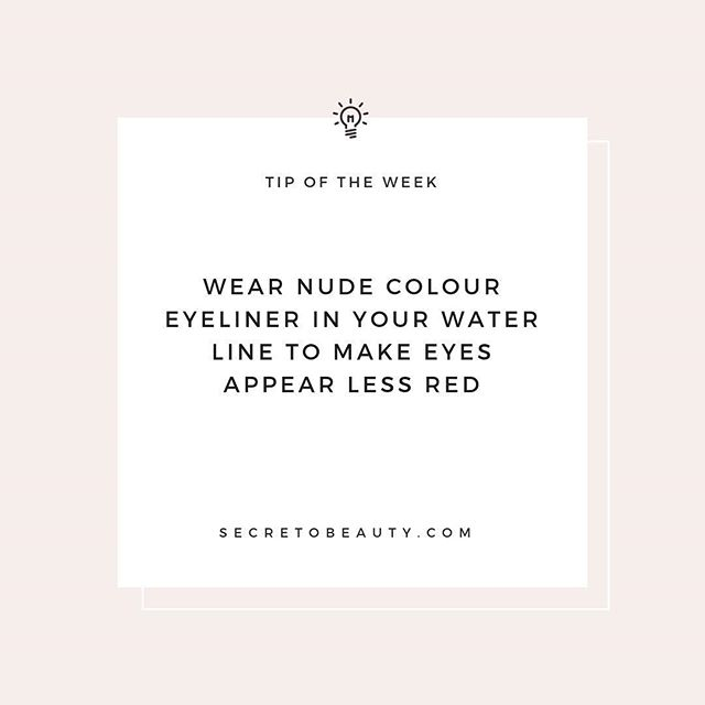 Nude eyeliner also helps make your eyes look bigger!