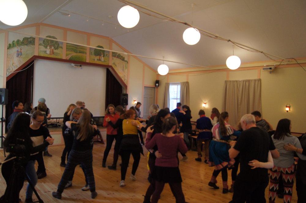 Kurs i Sydisdans under Tråante (foto: Museene danser)