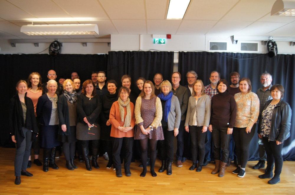 Årets deltakere på arkivseminaret for Nettverk for norske folkemusikkarkiv