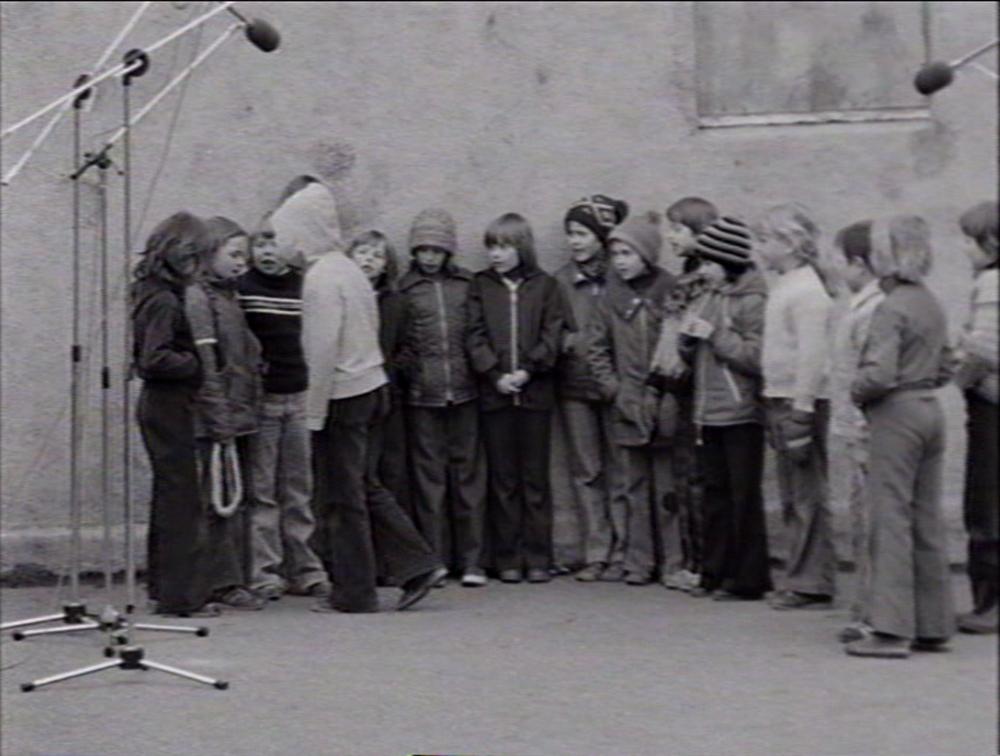 Sangleiker på Lilleby skole, Trondheim, 1977