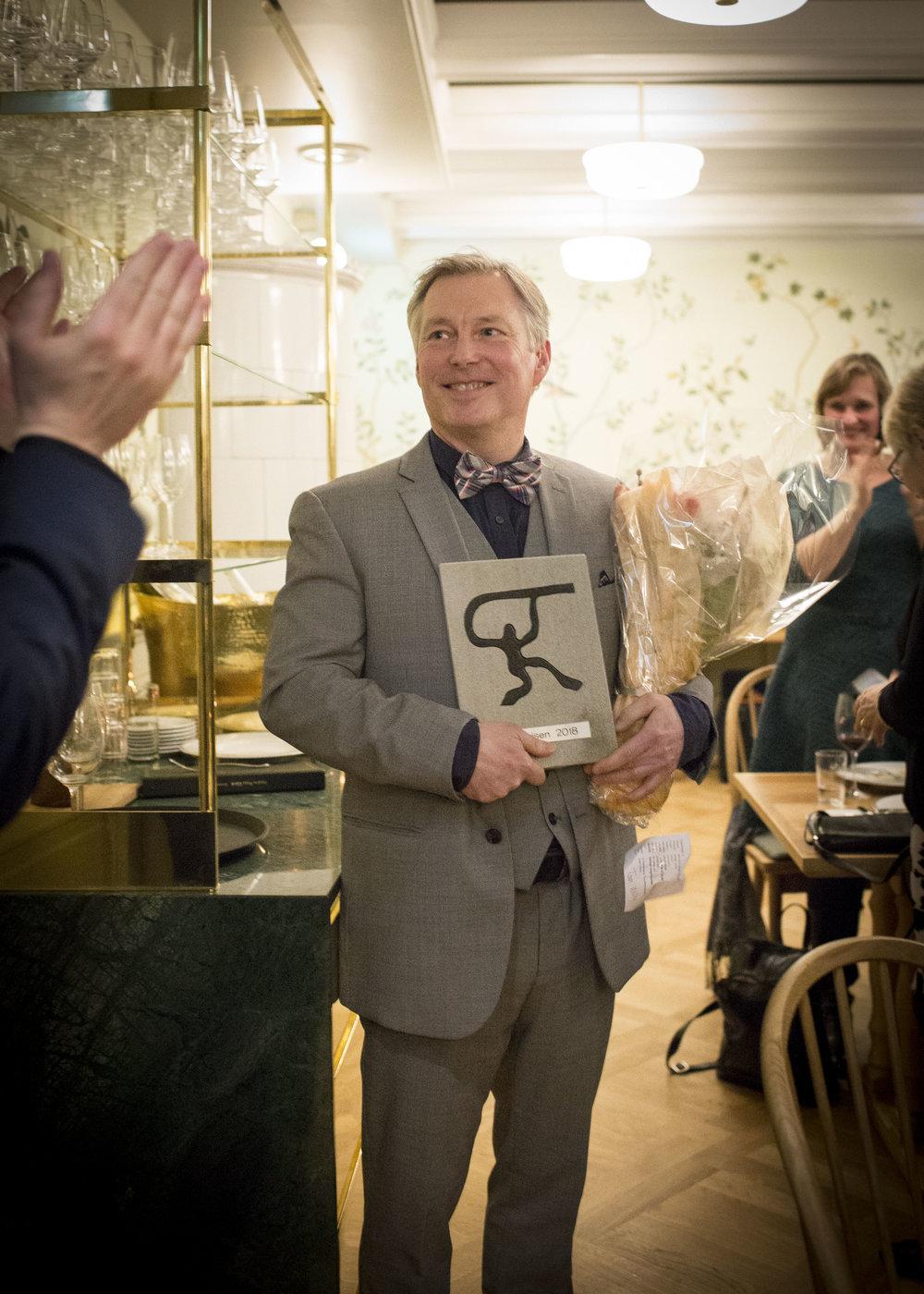 Rff-prisen for 2018 ble tildelt Tom Willy Rustad for hans virke som musikar og pedagog. Foto: Noregs Ungdomslag 2018