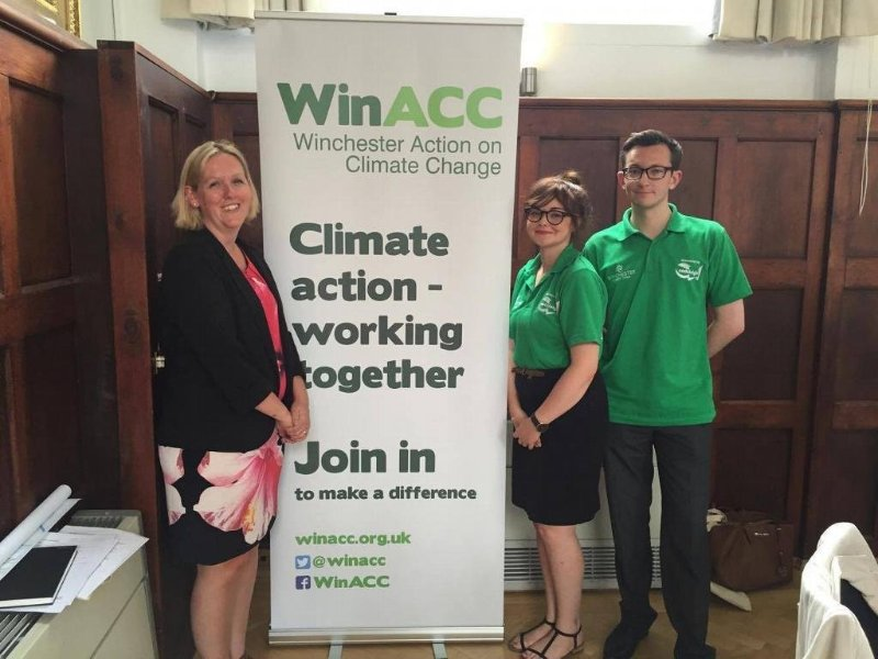 Colette Fletcher, Harry Sampson, & Myself @ Winchester Action on Climate Change - Climate Change & Pollution in Winchester Conference