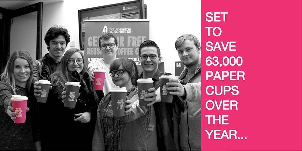 University of Winchester's Award Winning Coffee Cup Levy Scheme