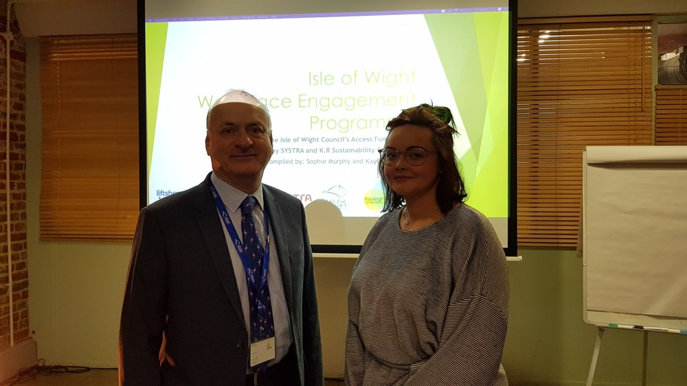 Kayleigh with Cabinet Member for Infrastructure & Transport from the Isle of Wight Council