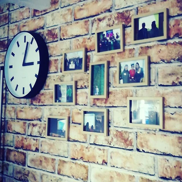 Photo wall taking shape in the office 👍