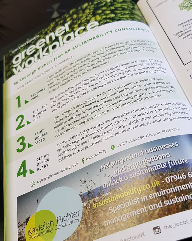 💚✅See our new feature in the Local Directory Magazine out now!!✅💚 #Greentips #sustainabletravel #Ecofreindly #Isleofwight #IOW