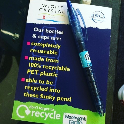 Really fun and productive meeting at @wight.crystal this week talking all things sustainability. One of the best places on the island for sustainable practice, setting a great example! - I also got this pen, how cool is that!? #sustainability #csr #isleofwight