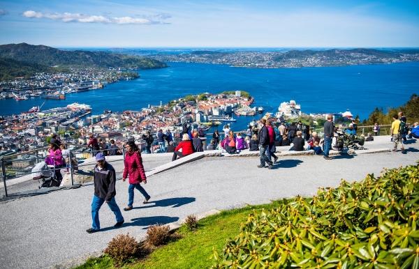 Fløyen - one of Bergen most popular places.