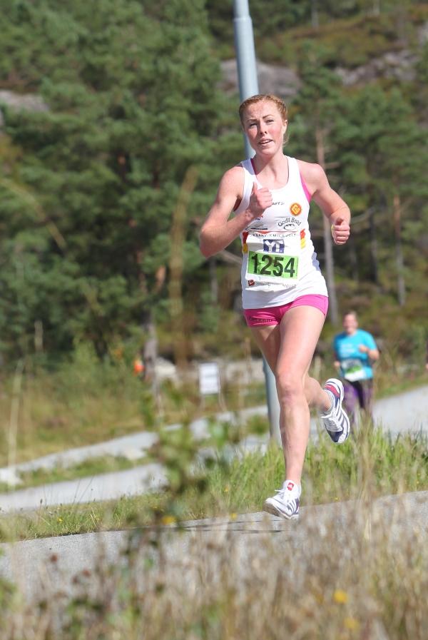 Eli Anne Dvergsdal - vinnar av 5 km i 2017 - Foto: Kjell Vigestad / Kondis