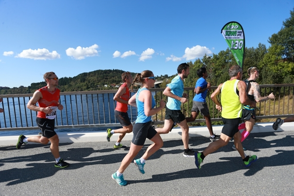 Fjord Norway Half Marathon crosses several bridges, giving the runners spectacular views during the race