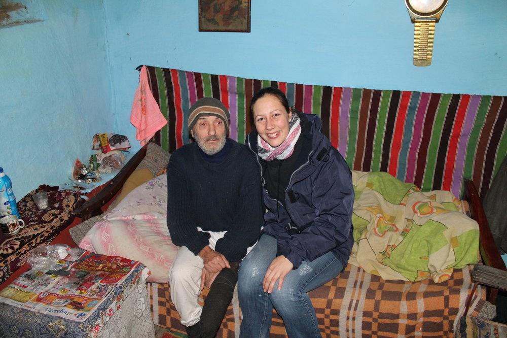Dezember 2014 Tiffany zu Besuch bei Andrj, er ist lebensfroh und humorvoll.