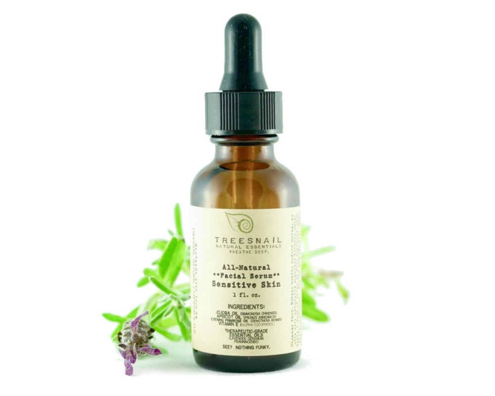 Facial Serum with Essential Oils for Sensitive Skin by Treesnail Natural Essentials.jpg