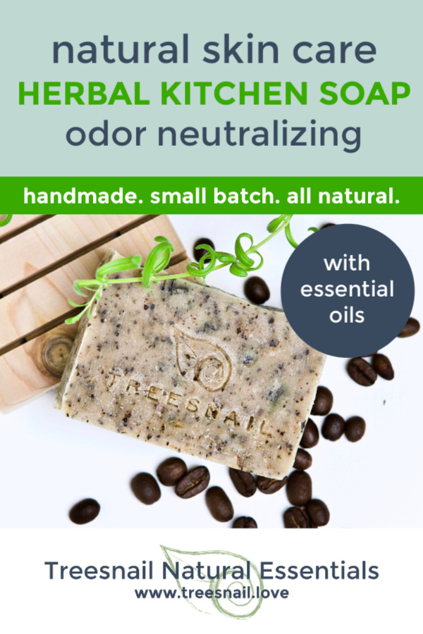 Herbal Kitchen Odor Neutralizing Cold Process Soap with Essential Oils for Natural Skin Care by Treesnail Natural Essentials.jpg