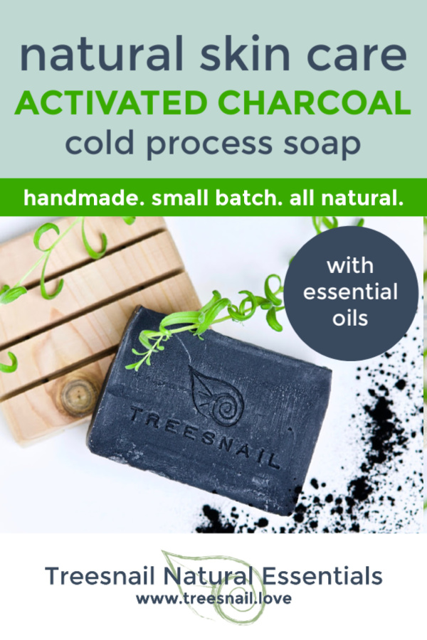 Activated Charcoal Cold Process Soap with Essential Oils for Natural Skin Care by Treesnail Natural Essentials.jpg