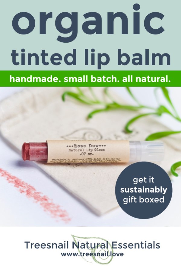 Rose Dew Organic Tinted Lip Balm with Essential Oils for the Green Beauty Lover by Treesnail Natural Essentials.jpg