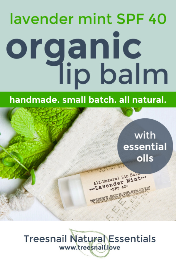 The BEST organic lip balm you will find, now with added SPF for hot summer days or hitting the slopes.  With all-natural titanium dioxide, we keep all chemicals out of our entire product line.  Click through for more info! www.treesnail.love #organiclipbalm #spf #organicskincare #treesnail